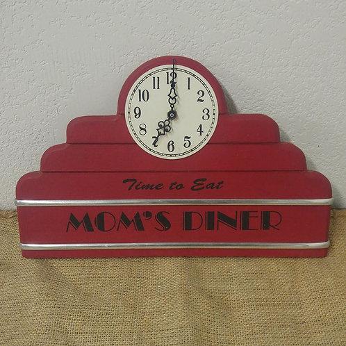 Mom's Diner Clock