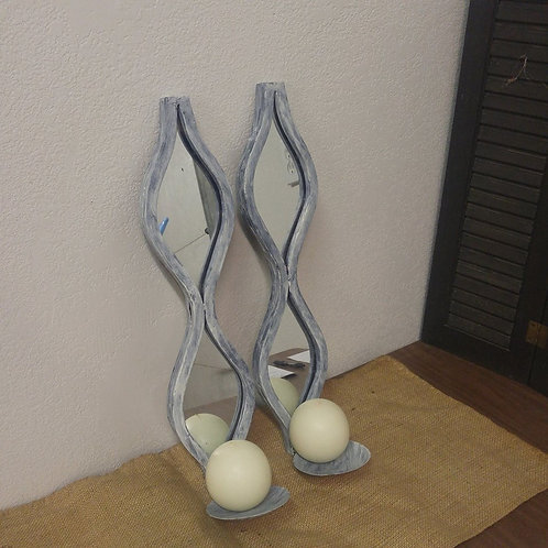 Pair of Candle Sconces with Candle's