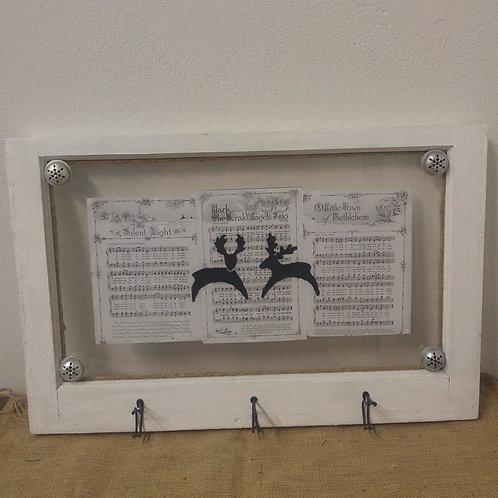 Reindeer Window with Hooks