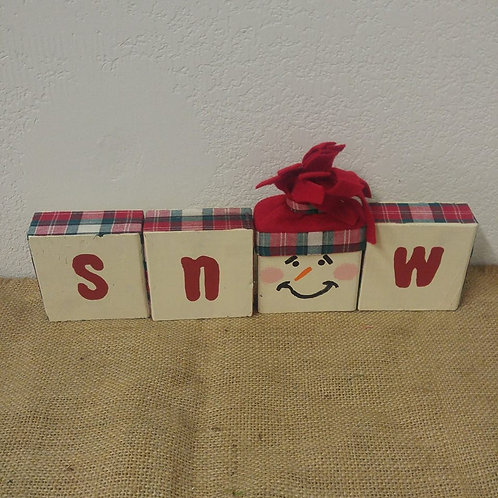 Set of 4 Snow Blocks