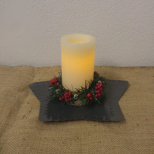 Candle with Star and Battery Operated Candle