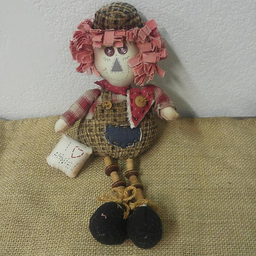Pair of Raggedy Ann and Andy Spoolies