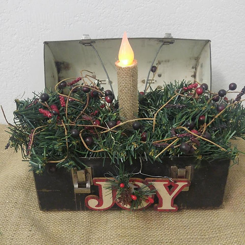 Christmas Lunch Box with battery operated candle