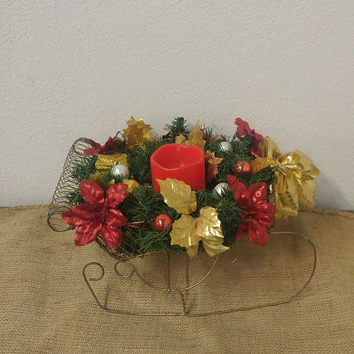 Christmas Sleigh Arrangement