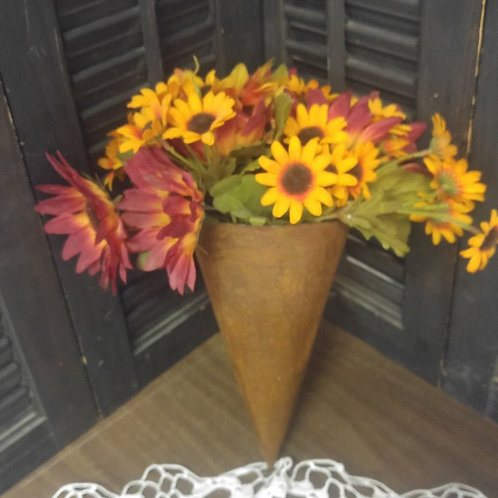 Rustic Wall Sconce with Flowers