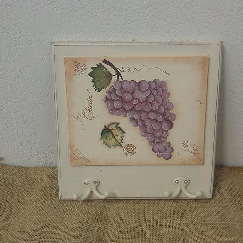 Grape Plaque with Hooks
