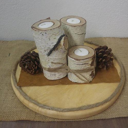 Rustic Candle Arrangement