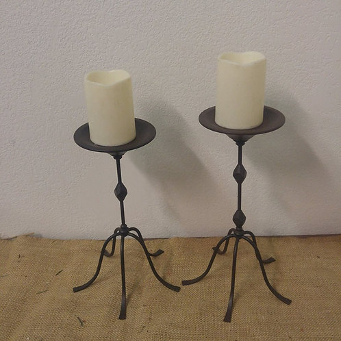 Pair of Metal Candle Holder's