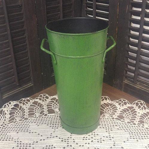 Green Tin Vase
