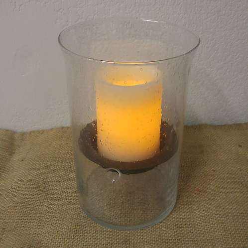 Bubble Vase with Candle
