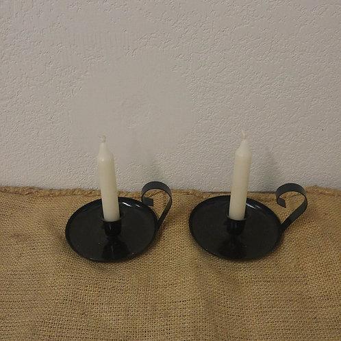 Pair Metal Candle Holders