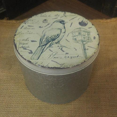 Galvanized Bird Tin
