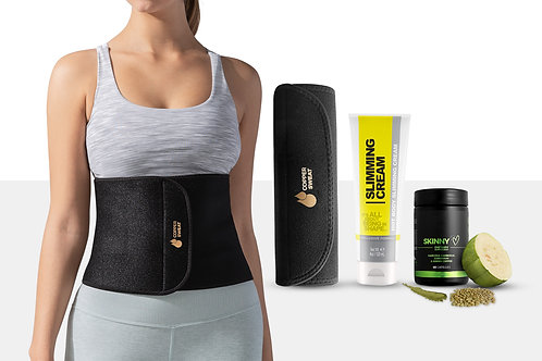 Waist Trimmer Band with Fat Burning Cream and Garcinia Cambogia