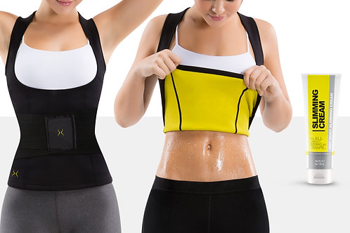 Women's Thermal Vest with Waist Trainer and Slimming Cream (4 oz)