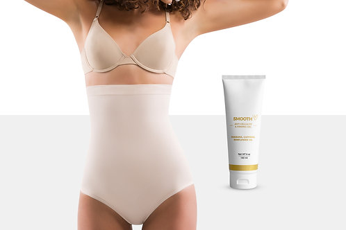 Women's Body Shaper Panties with Stretch Marks Remover Cream (6 Oz)