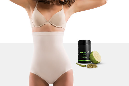 Women Tummy Control Shapewear Panties with Weight Loss Supplement