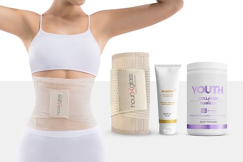 Waist Trainer Body Shaper with Slimming Cream and Turmeric Collagen Powder (17 O