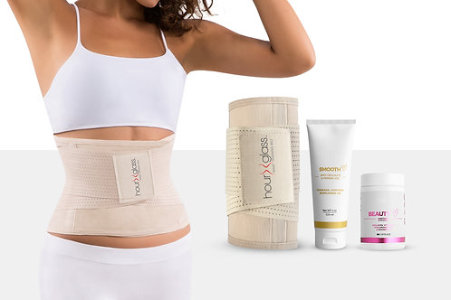 Women's Waist Trainer with Slimming Cream (4 Oz) and Hyaluronic Acid with Vitami
