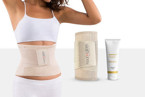 Waist Trainer for Women with Anti Cellulite Body Cream (6 oz)