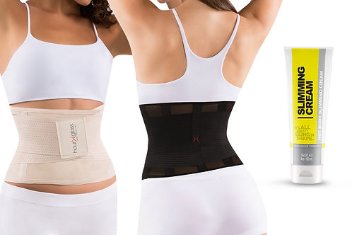 Women Waist Trainer for Home Workouts and Slimming Cream (4 oz)