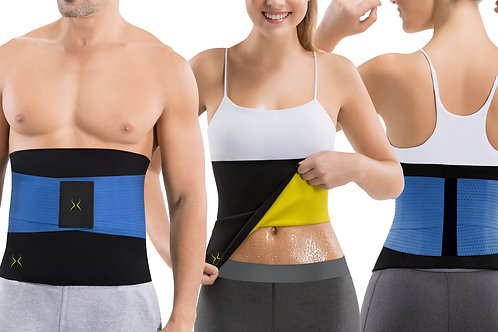 Unisex Sweat Band with Waist Trainer for Home Workouts