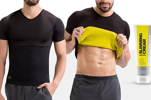 Men's Thermal Sauna Vest with Fat Burning Cream (4 Oz)
