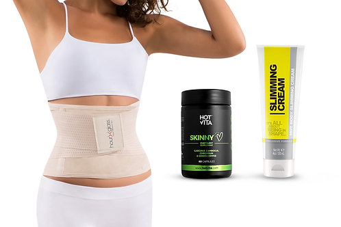 Waist Trimmer for Women with Slimming Cream (4 oz)  and Appetite Suppressant