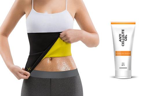 Hot Belt Women + HV Anti-Cellulite Gel (6 oz)