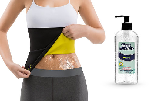 Waist Trimmer for Women with Free Hand Sanitizer Gel (8 oz)
