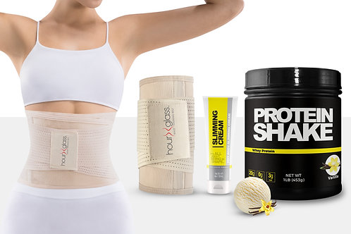 Body Shaper Corset with Slimming Cream and Meal Replacement Protein (Vanilla)