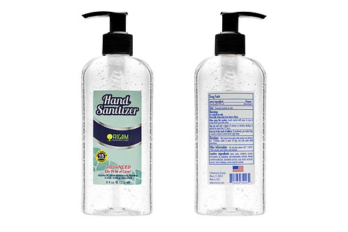 Antibacterial Hand Sanitizer Gel with 70% Ethyl Alcohol (8 oz)