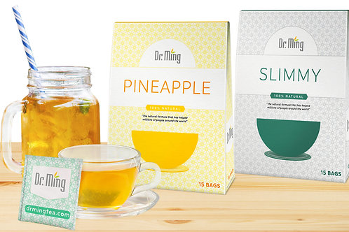 Dr. Ming's Pineapple Tea, Slimmy Tea x15, Pineapple Fiber
