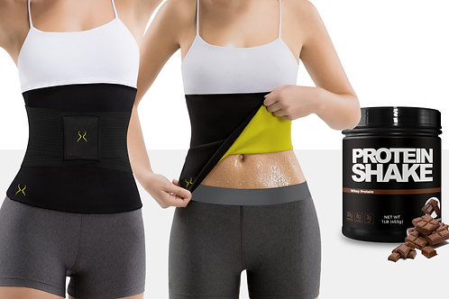 Waist Trimmer Corset with Low Calorie Whey Protein Powder