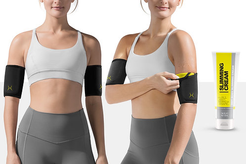 Women's Thermal Arm Sleeves with Slimming Cream (4 oz)