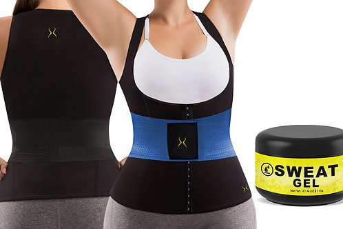Cami Hot Waist Cincher Plus + IT (PK, BL, BK) + HV Thermoactive Gel (4oz)