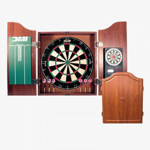 CABSETCH DMI® Dartboard Cabinet w/ Electronic Scorer (Light cherry)