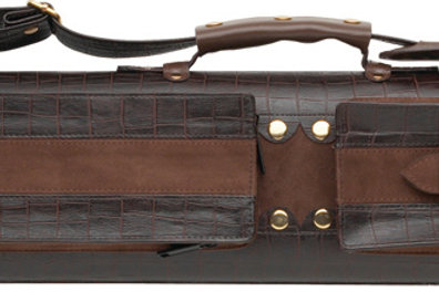 Elite ECC24 2x4 Classic Leather Hard Cue Case