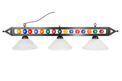 Billiard Ball Lights with Glass Shades
