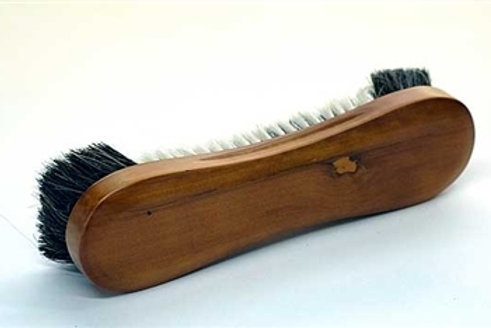"Honey Maple 10 1/2"" Horsehair Table Brush"