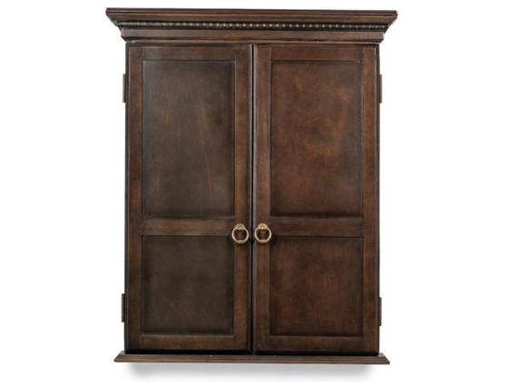 Classic-Dartboard-Cabinet-Close-Gray-Wal