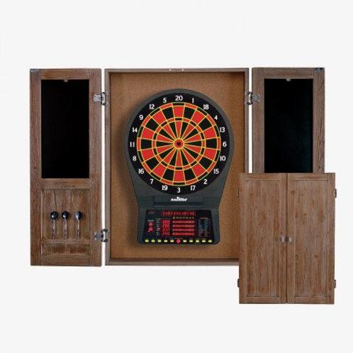 DBCJAG HJ Scott® St. James Dartboard Cabinet, Antique Grey