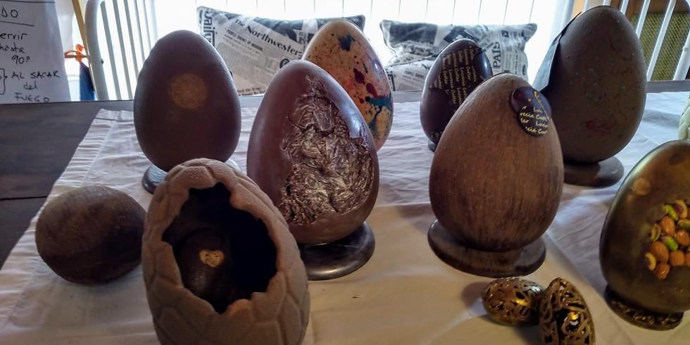 Clase demostrativa de huevos de pascua