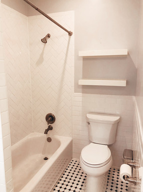 Shower/Bath and Toilet Space