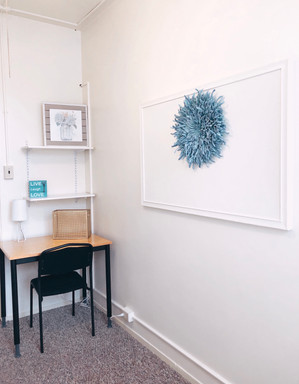 Expanded Desk Area and Bulletin Board