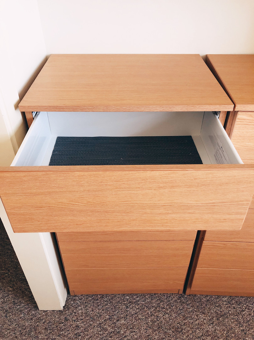 Expanded Drawer Space