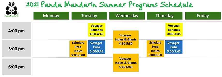 2021 Summer Programs & Calendars v202103