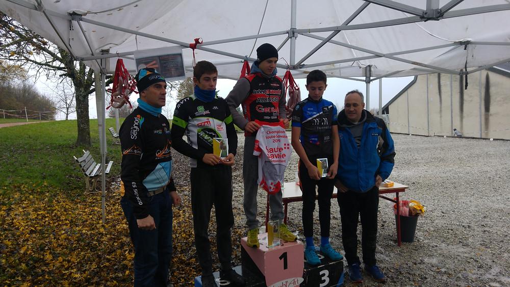 Quentin Vice champion Haute-Savoie de Cyclocross Cadet 2019