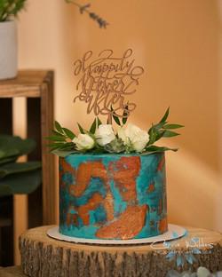 Copper Patina Wedding Cake