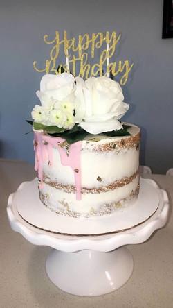 Happy Birthday Drip Cake