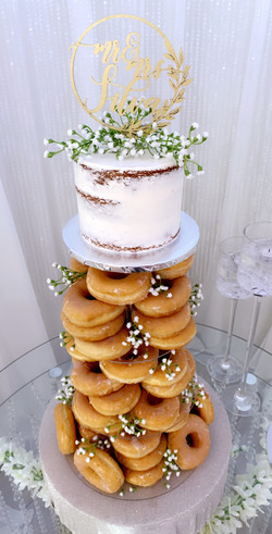 Donut Tower Cake